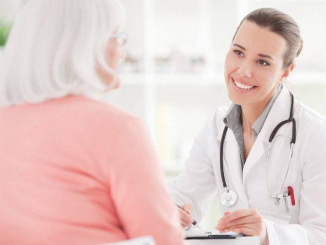 жінка на прийомі у лікаря